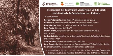 Presentació del Festival de Senderisme Vall de Siarb
