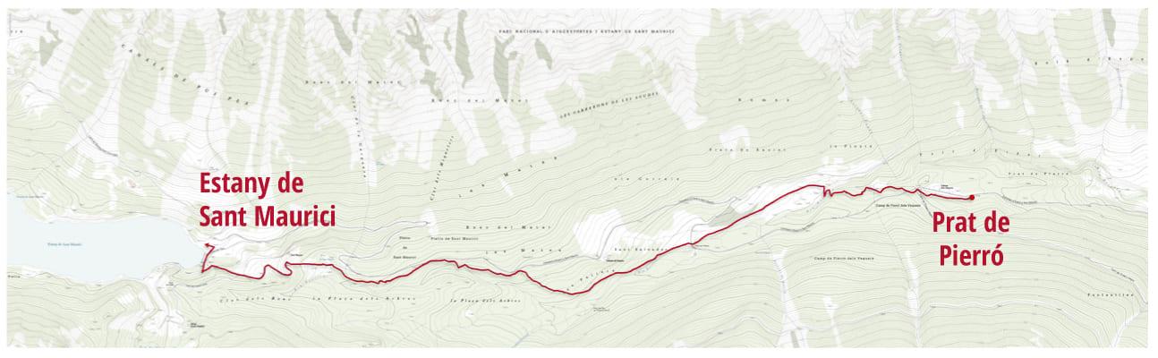 ruta Dalmau, els senyors i el camí de l'estany de Sant Maurici