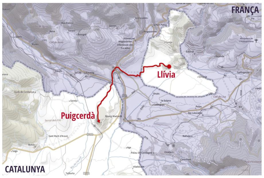 mapa llivia