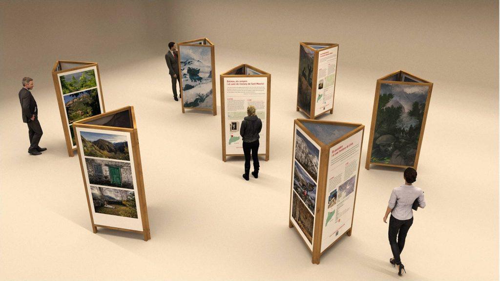 Recreació virtual de l'Exposició Històries i camins